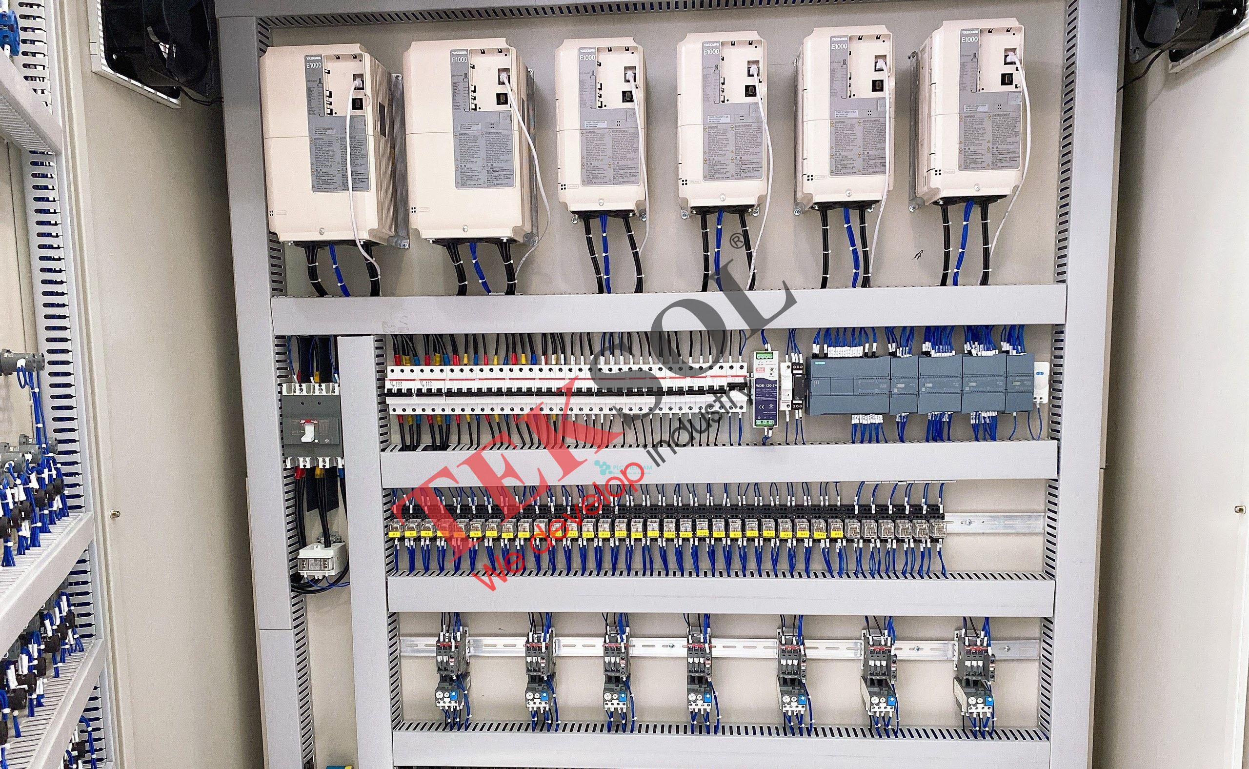 Tủ điện điều khiển PLC HMI Biến tần